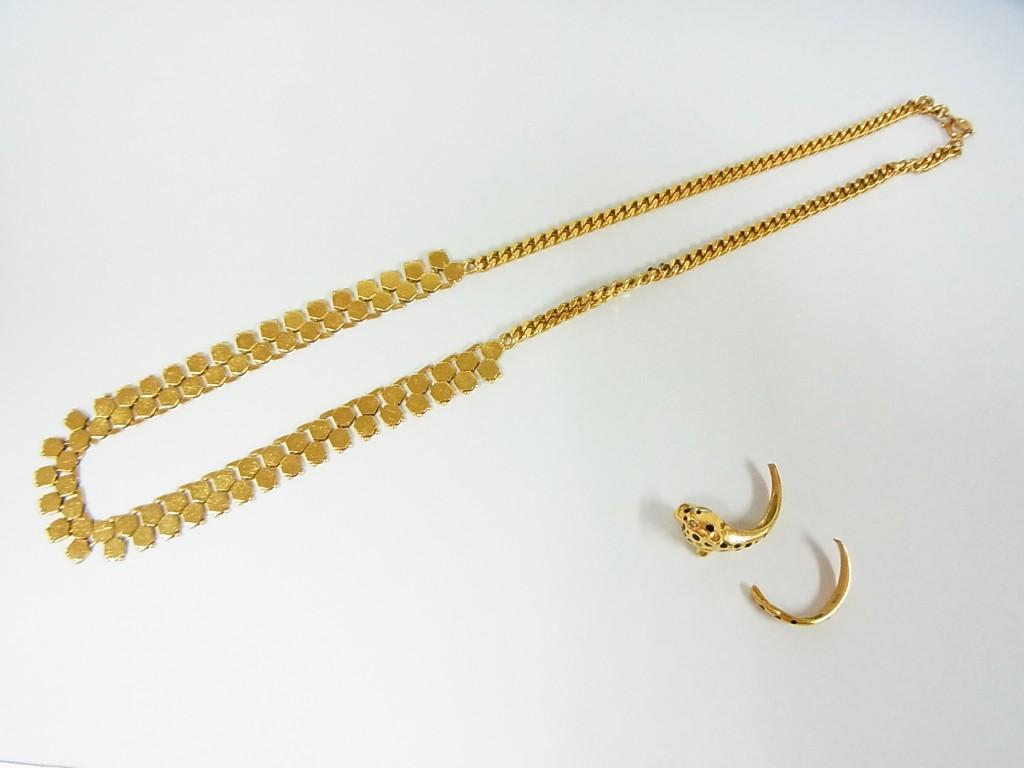 金製品のネックレスとリングの買取情報!