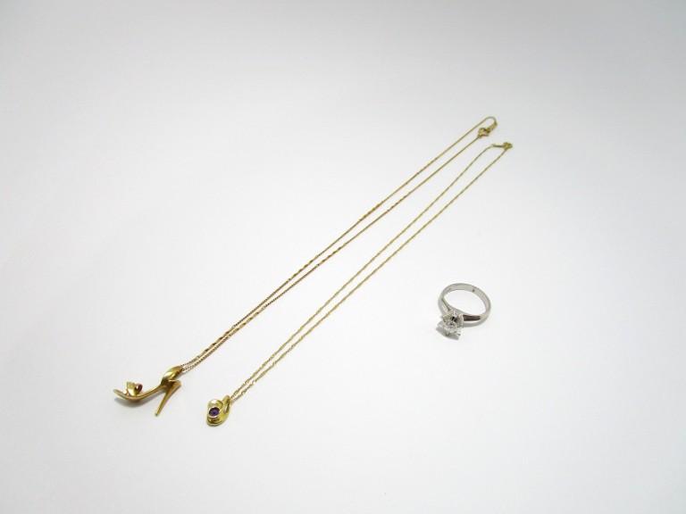 K18 Pt900 ダイヤ ペンダントネックレス 指輪 買取情報!